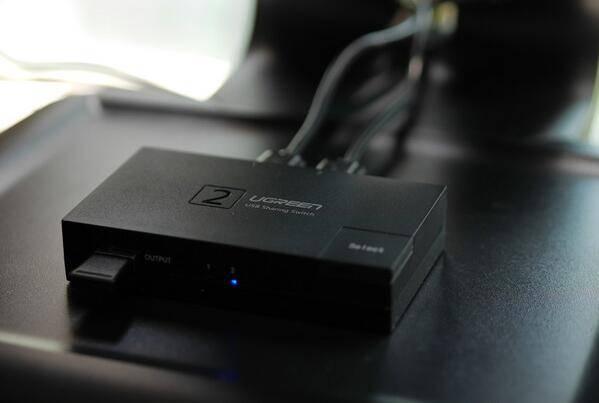 USB切换器连接无线键鼠套装