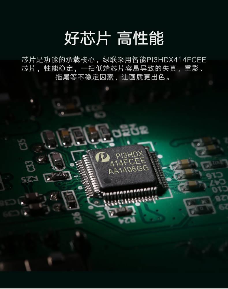绿联HDMI分配器一进八出,1080P高清一分八HDMI分屏器