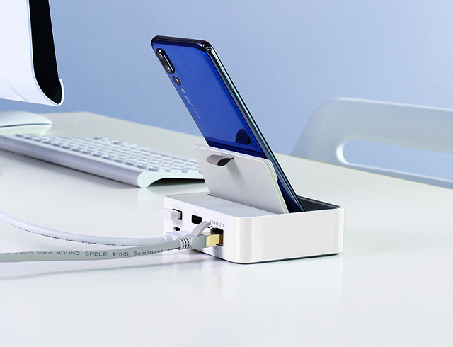 绿联type-c智能扩展底座,助type-c手机实现移动办公功能