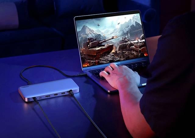 雷电3笔记本连接扩展坞方法
