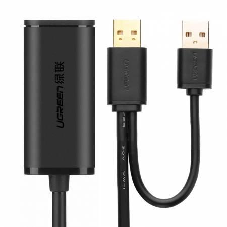 绿联 USB延长线 带信号放大器 带供电线