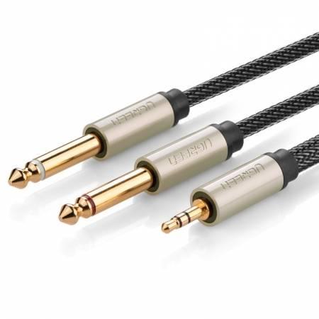 3.5转双6.5音频线