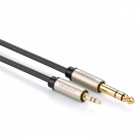 3.5转6.5公对公电脑功放调音台箱连接线
