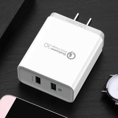 绿联双口USB快充,支持高通QC3.0,华为FCP快充