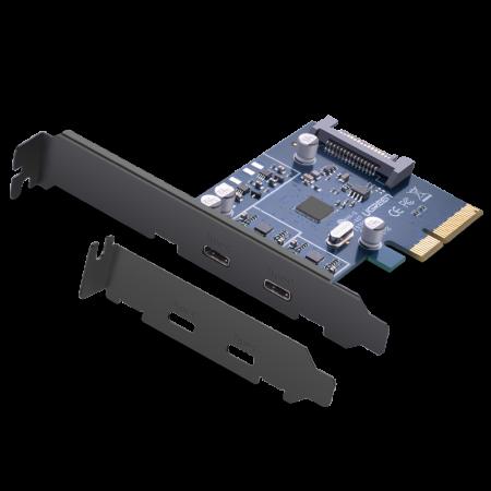 绿联 PCI-E转USB3.1 type-c双口移动硬盘高速U盘台式机电脑扩展卡