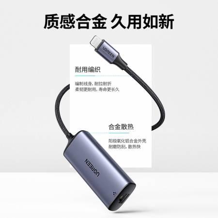 绿联苹果千兆网线转换器